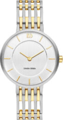 Zilveren Danish Design watches titanium dameshorloge Judi Two-Tone IV65Q1174