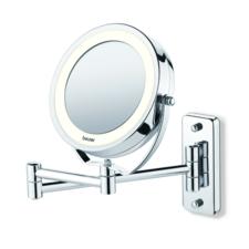 Afbeelding van Zilveren Beurer BS59 Spiegel met Ringverlichting - Make-upspiegel met Muurmontage - Ø11cm