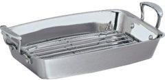 Zilveren Scanpan Impact braadslede - met rooster - 42 x 26 cm