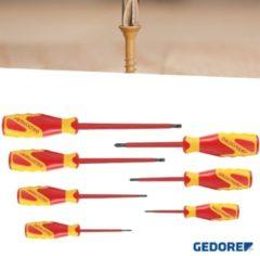 Rode Gedore schroevendraaierset - geïsoleerde schroevendraaiers - 7-delig