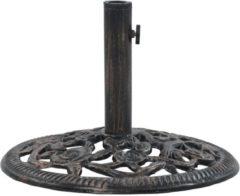 Bruine VidaXL Parasolvoet 12 kg 48 cm gietijzer bronskleurig