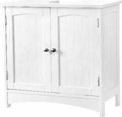 Witte MIRA Home - Badkamerkast staand - Kolomkast - Opbergruimte - Opbergkast met deuren - 60x60x30