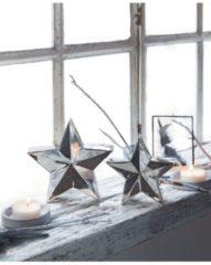 Deko-Objekt-Set, 2-tlg. Stars miaVILLA silberfarben