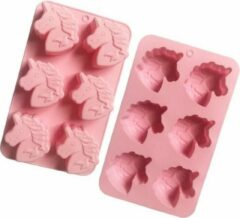 Roze Unicorn Bakvorm - Vorm voor ijs/snoep/chocolade/cake in de vorm van een Eenhoorn - Holy Moldy