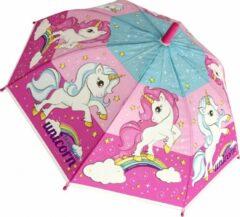 Chanos paraplu eenhoorn meisjes 60 cm roze