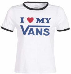 Witte T-shirt Korte Mouw Vans VANS LOVE RINGER