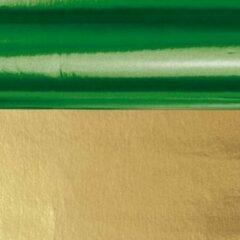 Merkloos / Sans marque Knutsel folie groen/goud 50 x 80 cm - Hobby/creatief voor cadeaus en kerst