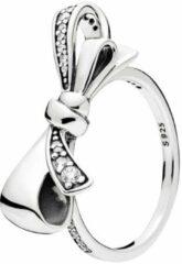 Tracelet Zilveren Ringen | Ring Grote Strik Zilver | Met zirkonia | 925 Sterling ZIlver | Bedels Charms Beads | Past altijd op je Pandora armband | Direct snel leverbaar | Miss Charming
