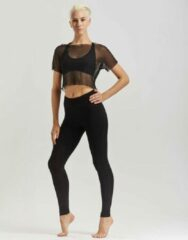 Temps Danse - Artist - Legging - Dames - Yogabroek - Sportbroek - Dansbroek - Viscose - Zwart - XL