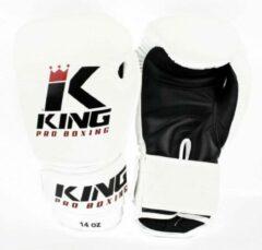 King Pro Boxing Bokshandschoenen Wit KPB/BG 2 Leder - 10oz