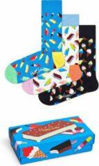 Happy Socks XICE08-6700 Ice Cream Three Pack Gift Box - Maat 36-40