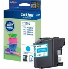 Brother LC221C Origineel Inktcartridge Cyaan