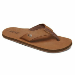 Reef Leather Smoothy Slippers - Maat 43 - Mannen - bruin