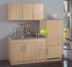 HELD Möbel Single-Küche Dallas 180 cm - Melamin Buche Nachbildung