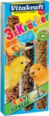 Vitakraft Kanarie Kracker 3 stuks - Vogelsnack - Sinaasappel&Sesam&Kiwi