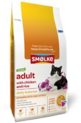 Smolke Adult Kip en Rijst - Kat - Volledig droogvoer - 4 kg