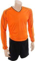 Precision voetbalshirt- en broek Marseille unisex oranje/zwart mt XL
