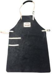Scotts Bluf Schort BBQ / keuken Zwart - Echt leder