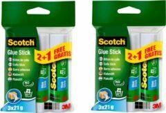 Scotch® / 3M / lijmstiften / Gluestick 21g / Plakstift voor papier en karton / 2 x 3 Lijmstiften / 2 PACK
