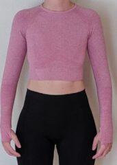 Merkloos / Sans marque Naadloos vestje voor fitness, yoga, gym - Roze - Maat M