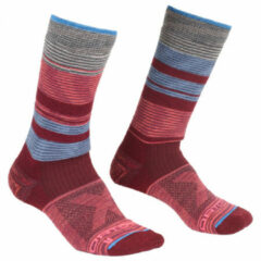 Ortovox - Women's All Mountain Mid Socks Warm - Wandelsokken maat 35-38, rood/grijs/roze