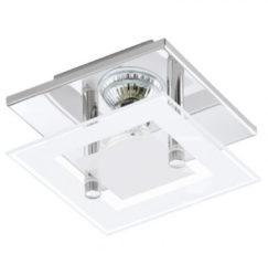 Grijze EGLO Almana - Plafonnière - 1 Lichts - Chroom - Wit, Helder