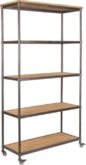 Wants and Needs Wants&Needs Stellingkast Jazz hout grijs 184 x 100 x 39