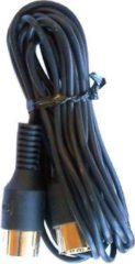 Zwarte Cavus DIN 8p Powerlink kabel 4 aderig geconnecteerd - 3 meter