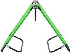 VidaXL Ligbed inklapbaar staal groen