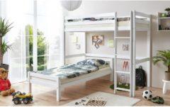 Etagenbett L-Bett Tolly Buche massiv Ticaa Weiß