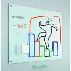 Smit Visual Glass2write glasbord, magnetisch, wit