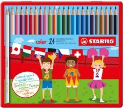 Stabilo kleurpotlood color, 24 potloden in een metalen doos