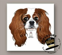 Heads Tegel Hond Cavalier King Charles Spaniel