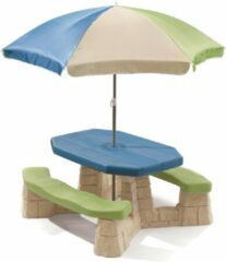 Groene Step2 picknicktafel Playful Picnic met parasol 183 cm