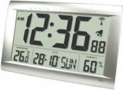 Grijze Balance time Radio-Controlled Wall Clock Digital Silver