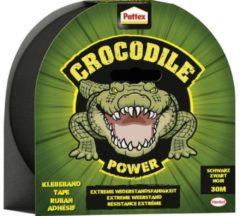 Pattex Crocodile Power Tape Ducttape Ducktape - Waterdicht - Extreem sterk - 30 mt - Zwart - Premium Grip