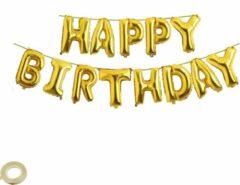 Happy Happenings Happy Birthday Slinger Goud - Ballonslinger - Folie Ballonnen