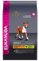 EUKANUBA DOG ADULT MEDIUM BREED CHICKEN HONDENVOER #95; 3 KG