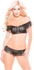 Allure Mini Bustier + G-string - zwart - one size