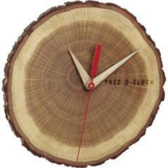 Rode TFA Dostmann 60.3046.08 Quartz Wall clock 172 mm x 180 mm x 40 mm Oak, Wood Real wood