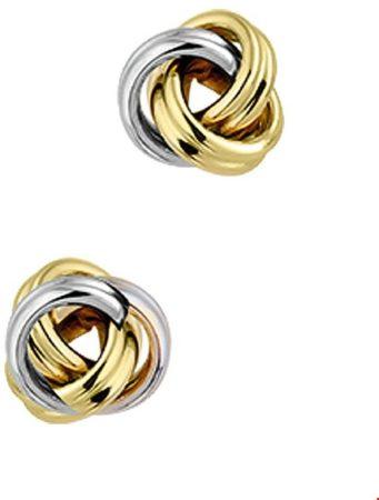 Afbeelding van Goudkleurige The Jewelry Collection Oorknoppen Knoop - Bicolor Goud (14 Krt.)