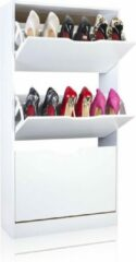 Happy Home HFS03-WEI - schoenenkast voor 12-18 paar schoenen -WIT