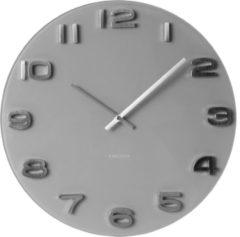 Karlsson Vintage Round - Klok - Rond - Glas - Ø35 cm - Grijs