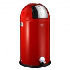 Rode Wesco Afvalemmers Wesco Kickboy rood, 40 ltr