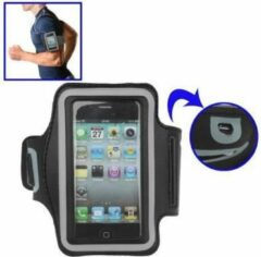 Zwarte DrPhone Luxe Sportband iPhone 4(S) hardloop Sport Armband Superieur Kwaliteit