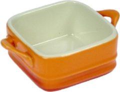 Cosy&Trendy Cosy & Trendy Mini-gratinschoteltje - Oranje - 7x7cm - Porselein - (set van 4) En Yourkitchen E-kookboek - Heerlijke Smulrecepten