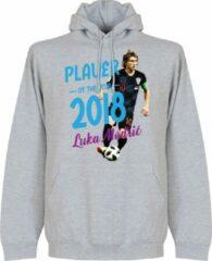 Retake Modric Voetballer van het jaar 2018 Hooded Sweater - Grijs - XL