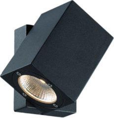 Franssen Verlichting Finmotion wandlamp LED 7W vierkant - antraciet