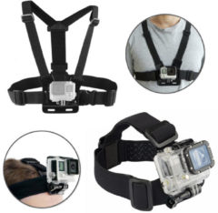 BIKIGHT Head Helmet Strap Chest Harness Adjustable Mount For GoPro Accessories GoPro 3+/4/5/6