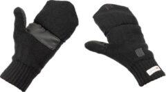 Mfh gebreide vinger wanten zwart 3m thinsulate